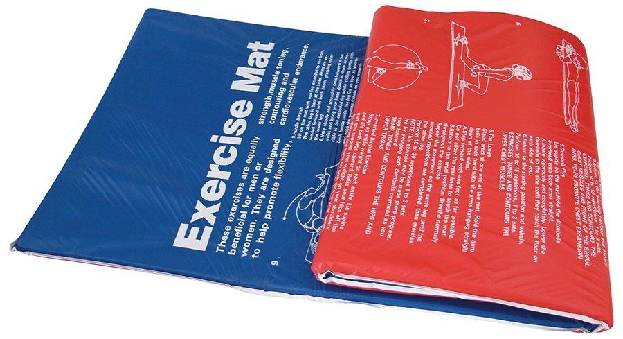 Červená podložka na cvičení Tunturi - tloušťka 2,5 cm