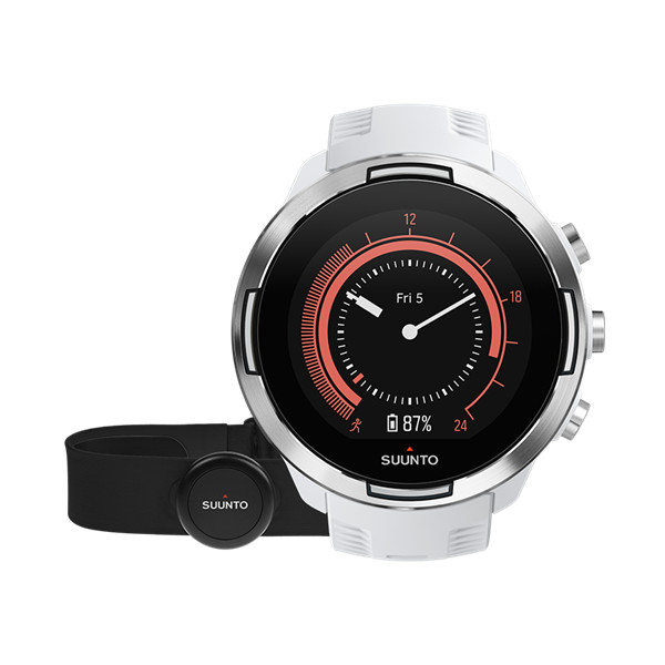 Bílé sportovní analogové chytré hodinky SUUNTO 9 Baro HR, Suunto