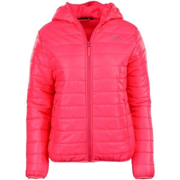 Růžová zimní dámská bunda s kapucí Alpine Pro - velikost S