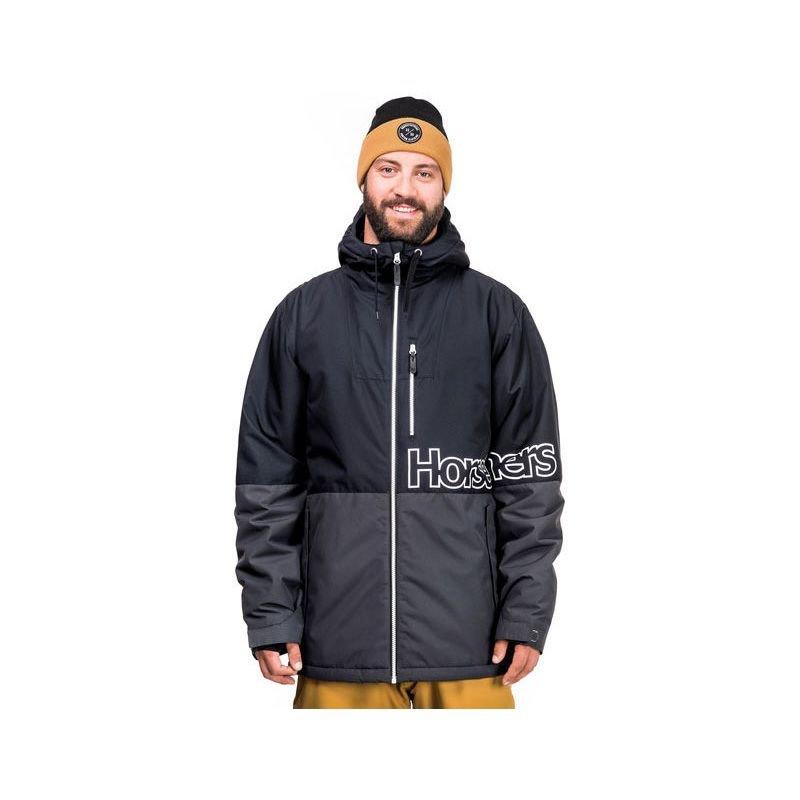 Černo-šedá pánská snowboardová bunda Horsefeathers - velikost XL