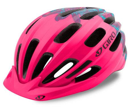 Růžová dětská cyklistická helma Giro - velikost 50-57 cm