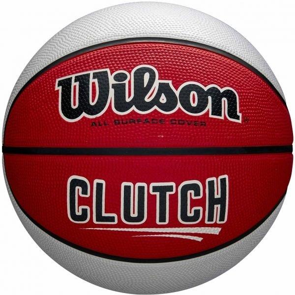 Bílo-červený basketbalový míč Wilson