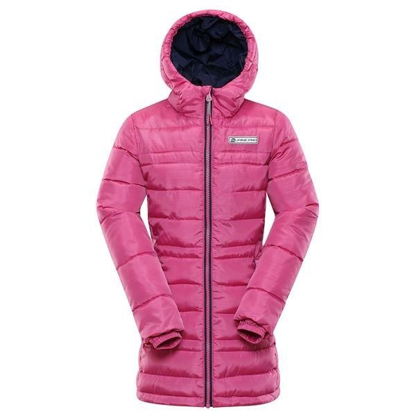 Růžový dívčí kabát Alpine Pro - velikost 92-98