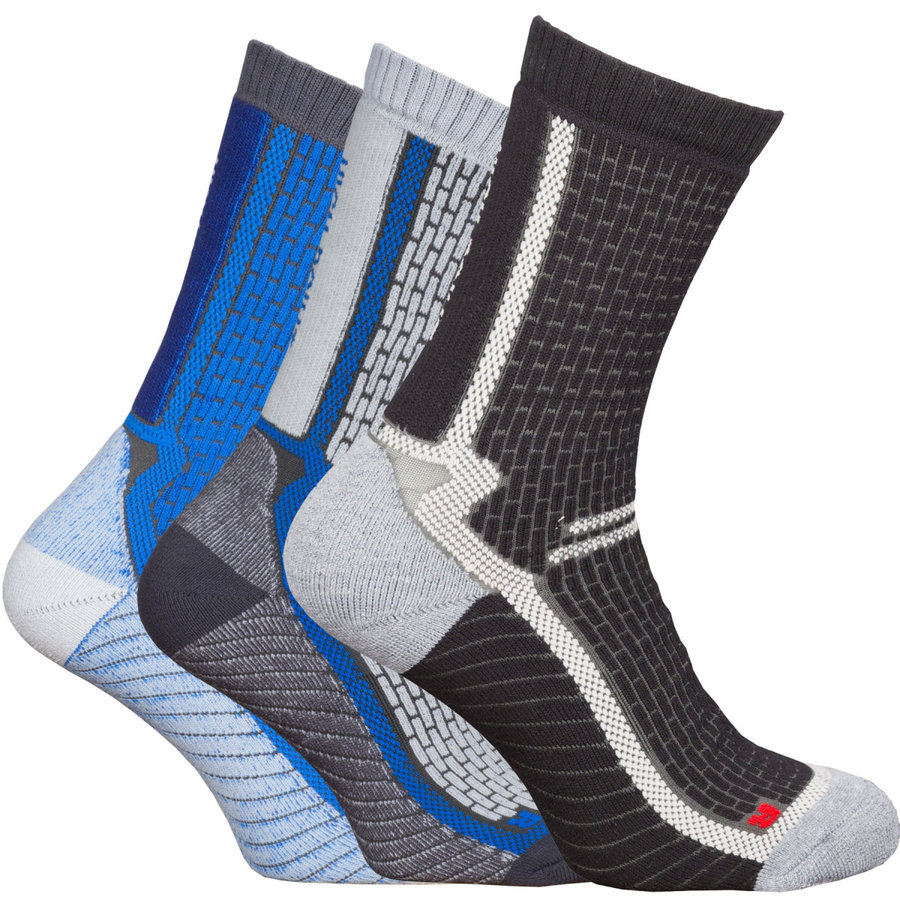 Šedé pánské trekové ponožky High Point - velikost 35-38 EU - 3 ks
