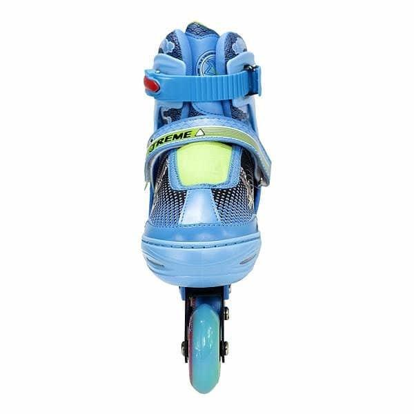 Modré kolečkové brusle Nils Extreme - velikost 34-37 EU