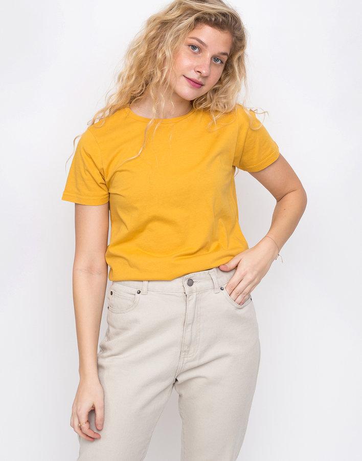 Žluté dámské tričko s krátkým rukávem Colorful Standard