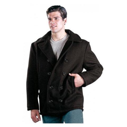 Kabát - Kabát US NAVY TYPE PEACOAT ČERNÝ + Dárek ZDARMA