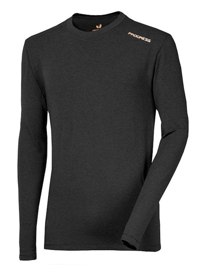 Černé pánské funkční tričko s dlouhým rukávem Progress
