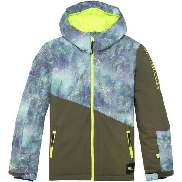 Modro-zelená chlapecká lyžařská bunda O'Neill