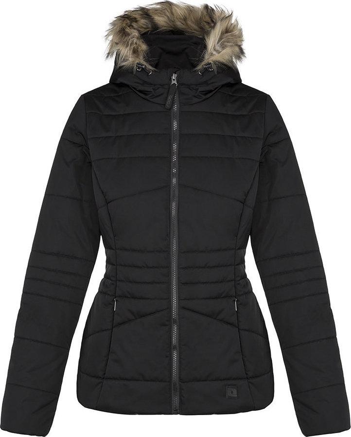 Černá zimní dámská bunda s kapucí Loap - velikost M