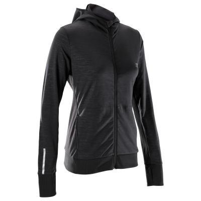 Černá běžecká bunda Warm, Kalenji