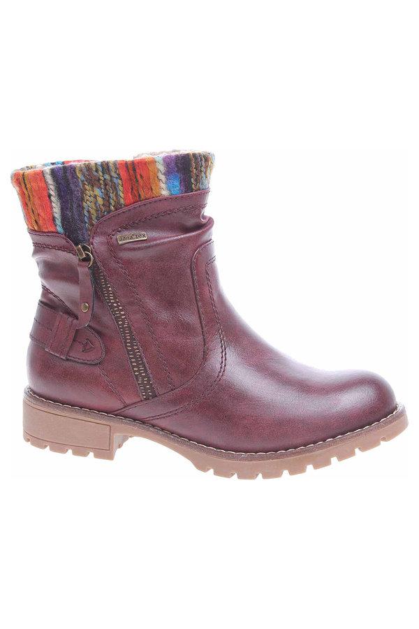 Červené dámské zimní boty Jana - velikost 36 EU