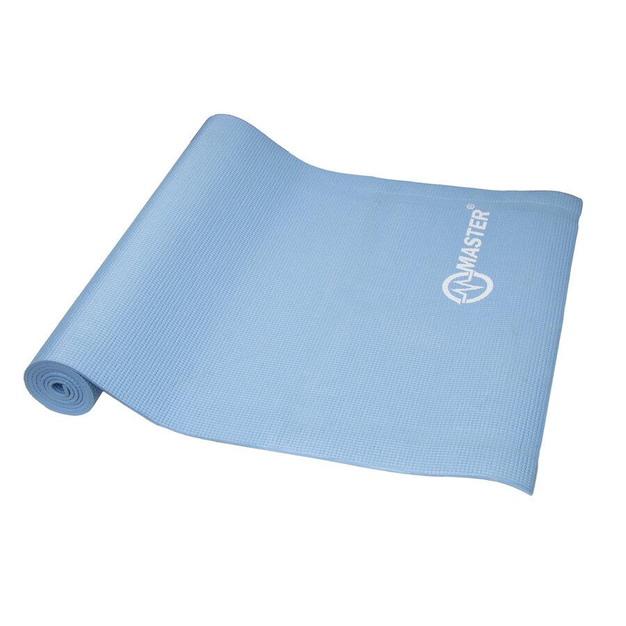 Modrá podložka na jógu Master - délka 173 cm a tloušťka 0,5 cm