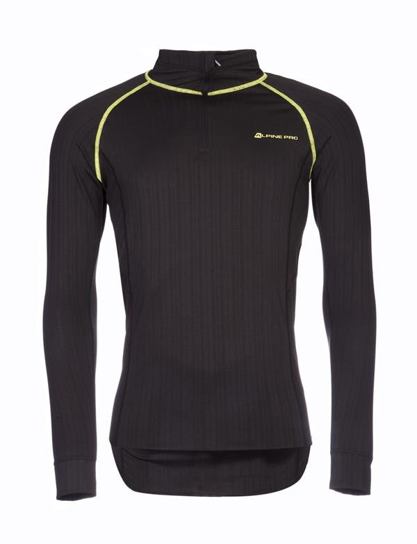 Černé pánské tričko s dlouhým rukávem Alpine Pro
