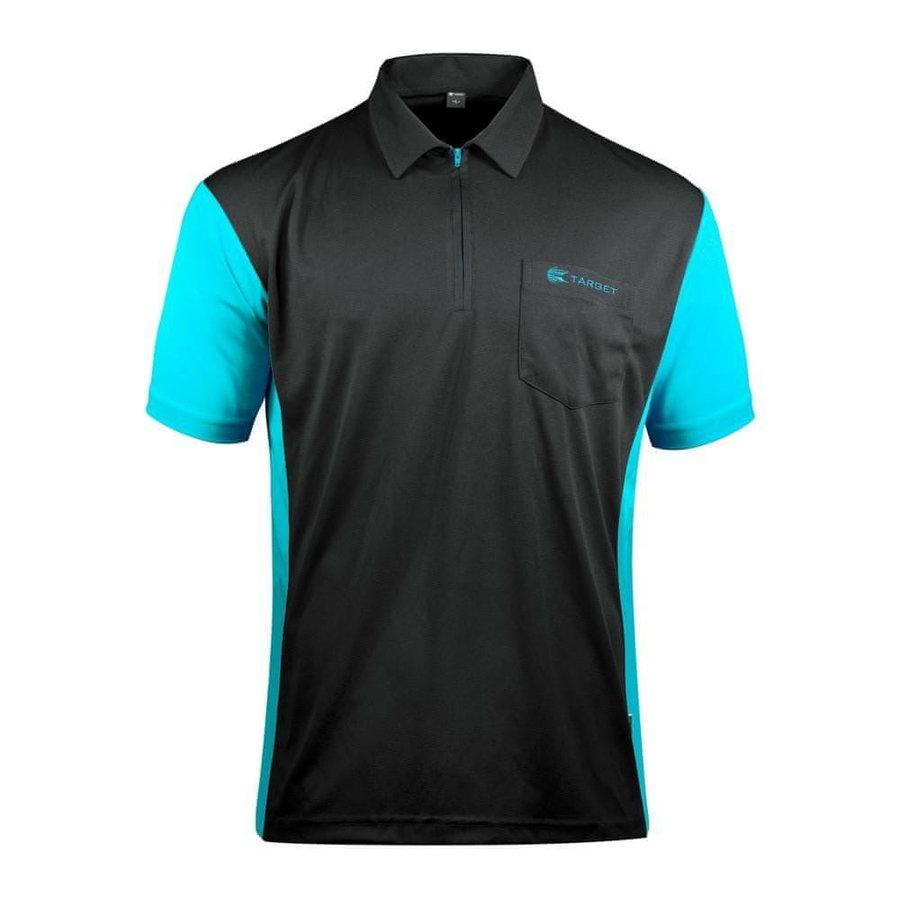 Černo-modrý šipkařský dres Target Darts - velikost L