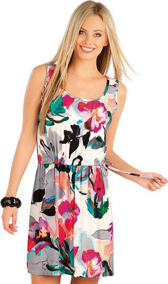 Bílo-růžové dámské šaty Litex - velikost M