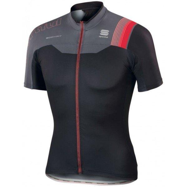 Černo-šedý pánský cyklistický dres Sportful