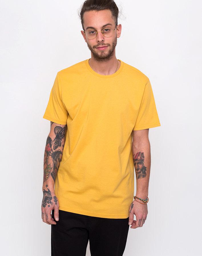 Žluté pánské tričko s krátkým rukávem Colorful Standard - velikost XL