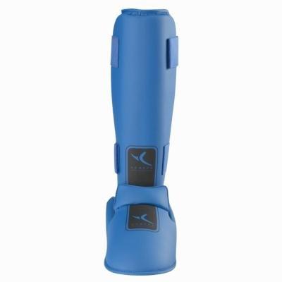 Modré chrániče na holeně Domyos - velikost S