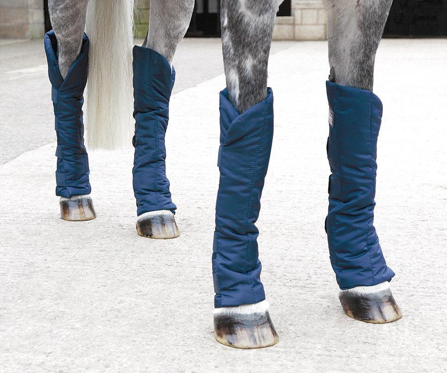 Modré kamaše pro koně