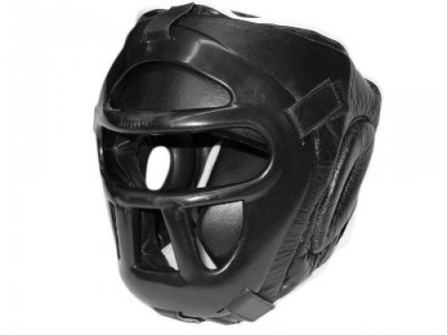 Černá boxerská přilba Fighter - velikost M
