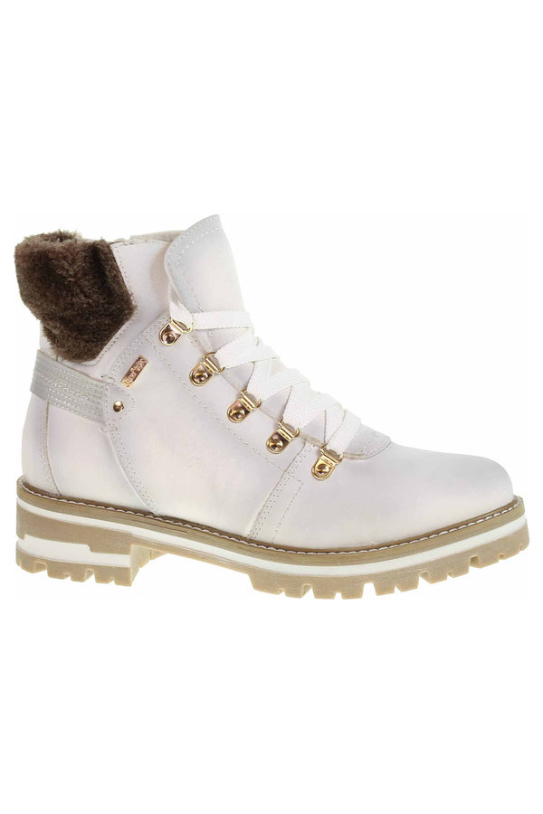 Bílé dámské kotníkové boty Jana