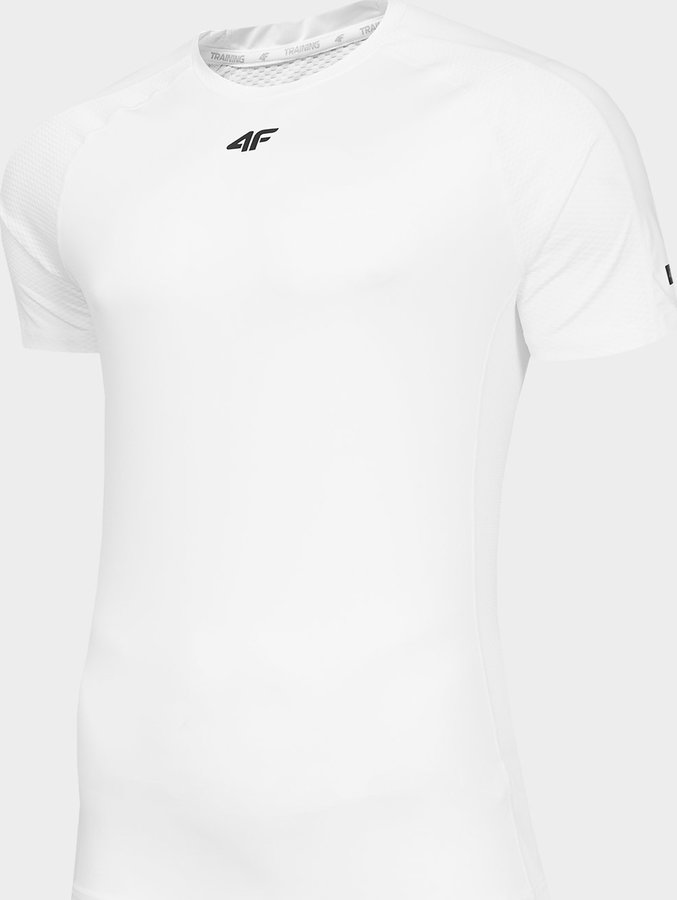 Bílé pánské funkční tričko s krátkým rukávem 4F