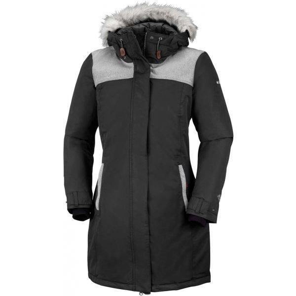 Černo-šedý zimní dámský kabát Columbia