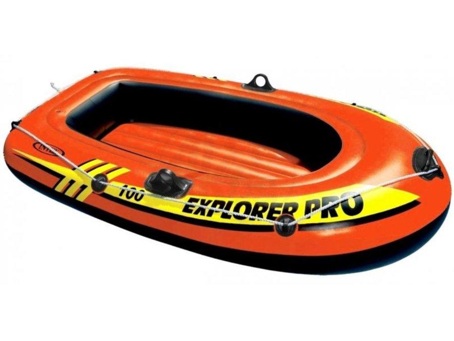 Oranžový nafukovací člun s nafukovacím dnem pro 1 osobu Explorer Pro 100, INTEX