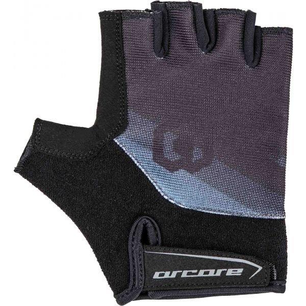 Černo-šedé pánské cyklistické rukavice Arcore
