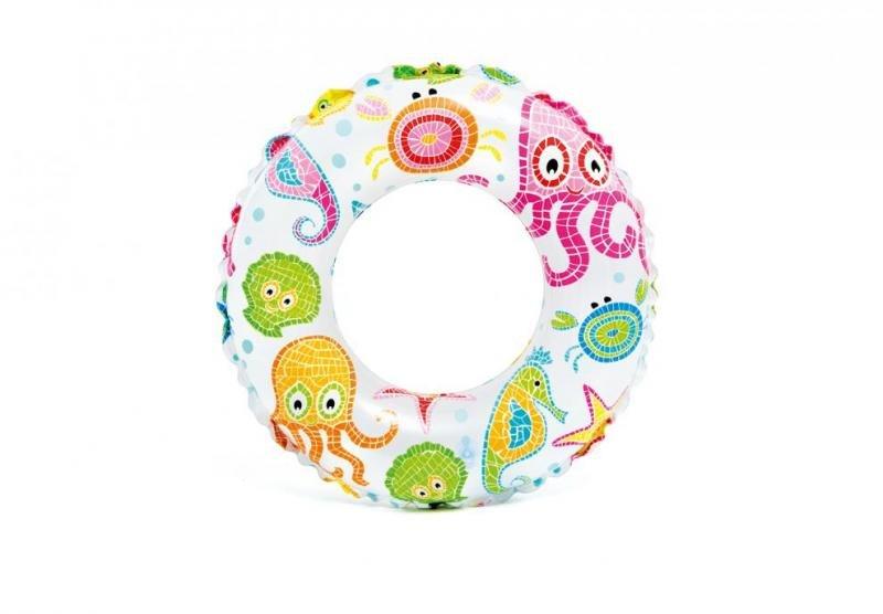 Různobarevný dětský nafukovací kruh INTEX