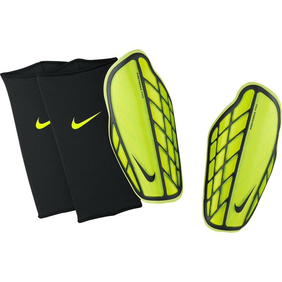 Zelené fotbalové chrániče holení Protegga Pro, Nike - velikost M