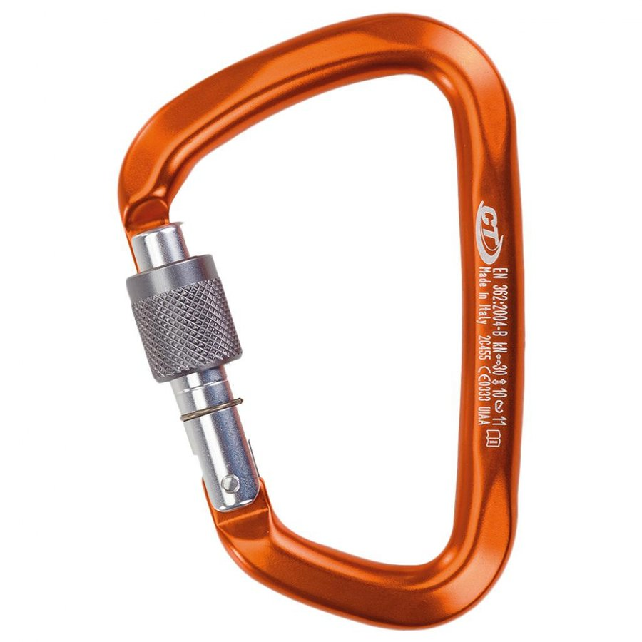 Oranžová horolezecká karabina Climbing Technology