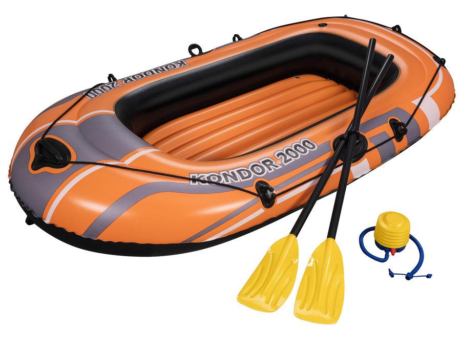 Oranžový nafukovací člun s nafukovacím dnem pro 2 osoby Hydro Force, Bestway