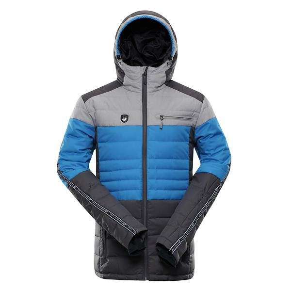 Modro-šedá pánská lyžařská bunda Alpine Pro - velikost 3XL