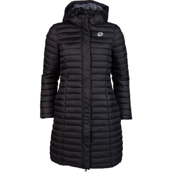 Černý prošívaný dámský kabát Lotto