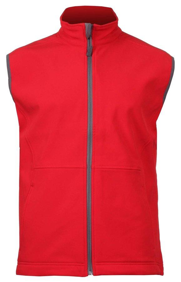 Červená softshellová pánská vesta Adler - velikost M