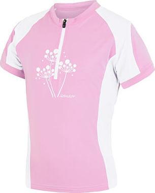 Bílo-růžový dětský cyklistický dres Sensor