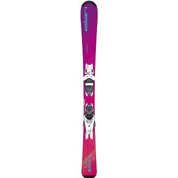 Růžové dětské lyže s vázáním Elan - délka 100 cm
