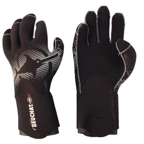 Černé neoprenové rukavice Semi-Dry Premium, Beuchat