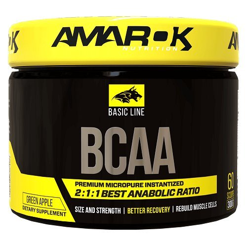 BCAA - Basic Line BCAA - Amarok Nutrition 300 g Pineapple