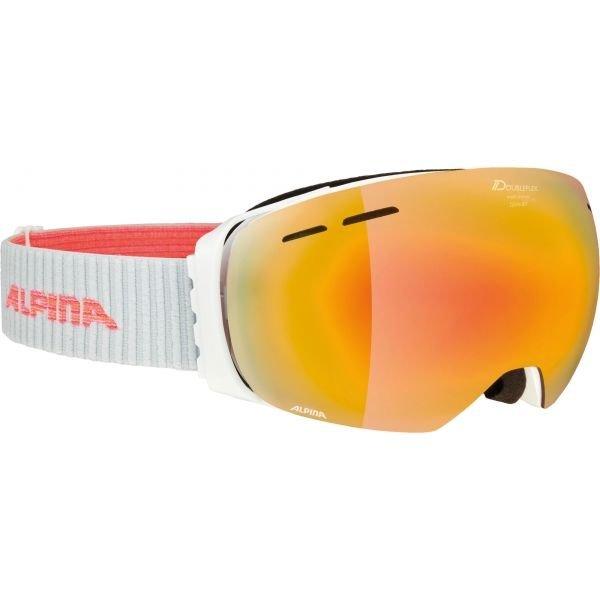 Bílé lyžařské brýle Alpina