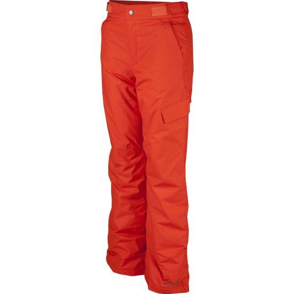 Červené chlapecké lyžařské kalhoty Columbia