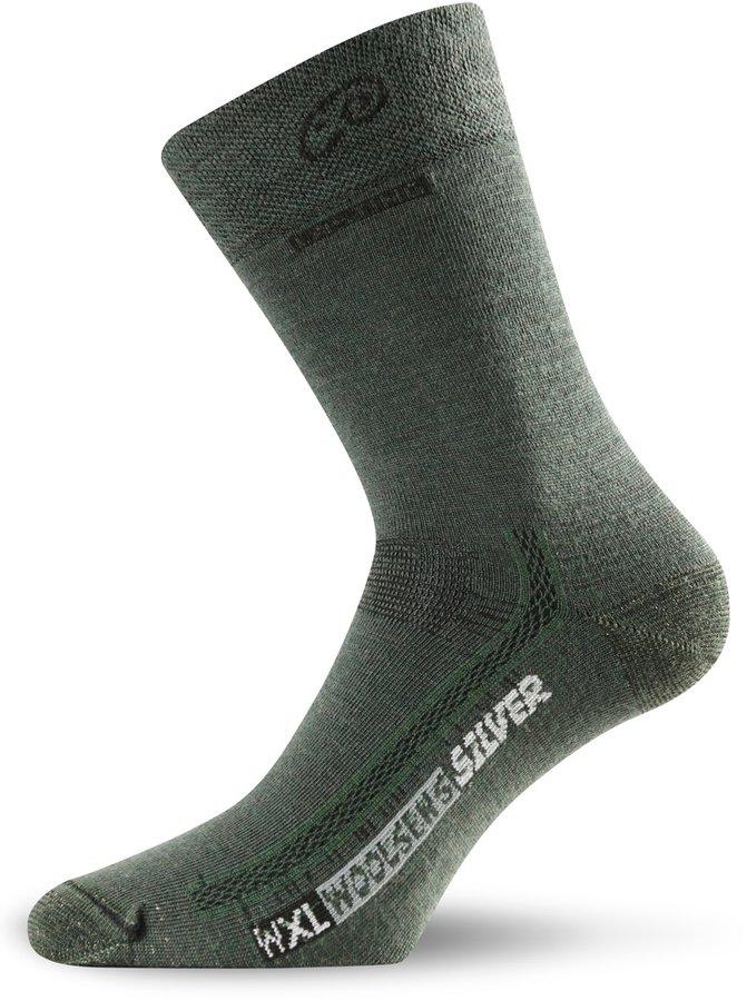 Zelené pánské trekové ponožky Lasting - velikost 42-45 EU