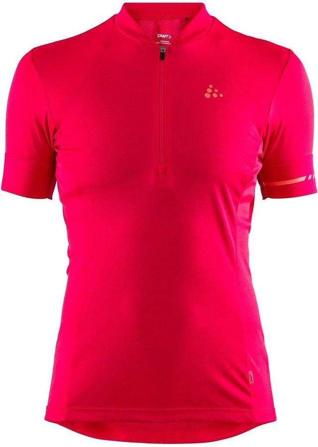 Růžový dámský cyklistický dres Craft - velikost L