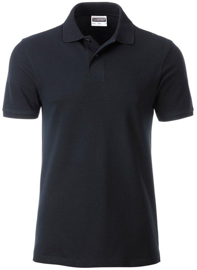 Černá pánská polokošile s krátkým rukávem James & Nicholson - velikost L