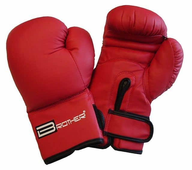 Červené boxerské rukavice Acra