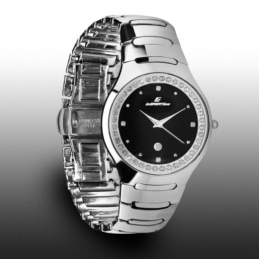 Stříbrné sportovní analogové hodinky Voyager, inSPORTline
