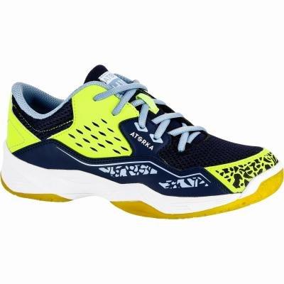 Modro-žluté dětské boty na házenou Atorka - velikost 37 EU