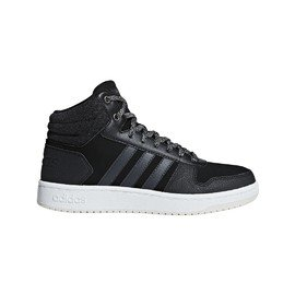 Bílo-černé dámské basketbalové boty Hoops 2.0 Mid, Adidas